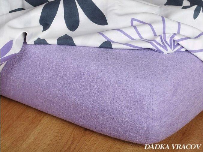 Froté prostěradlo fialové