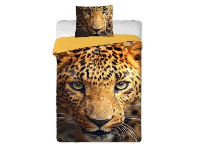 Povlečení bavlna fototisk Leopard 2015