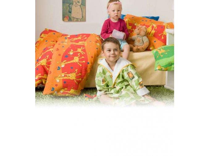 Dětské povlečení bavlna Žirafa červená