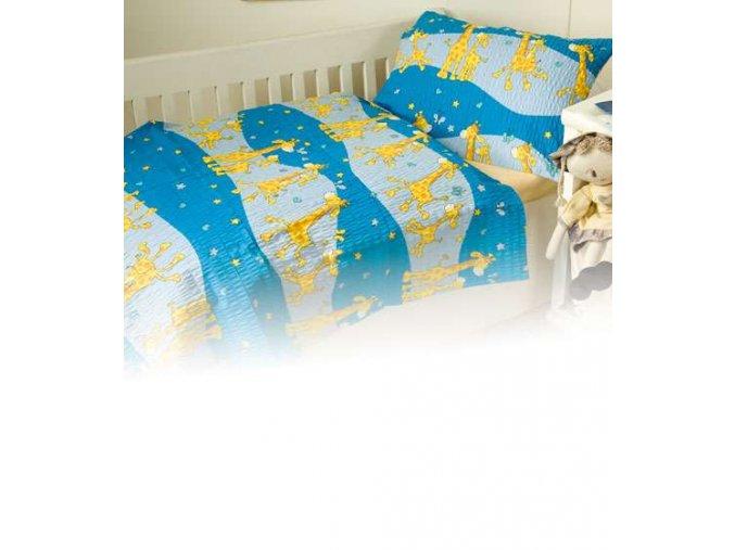 Dětské povlečení bavlna Žirafa modrá