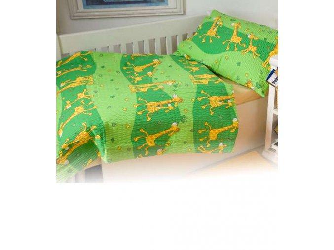 Dětské povlečení bavlna Žirafa zelená