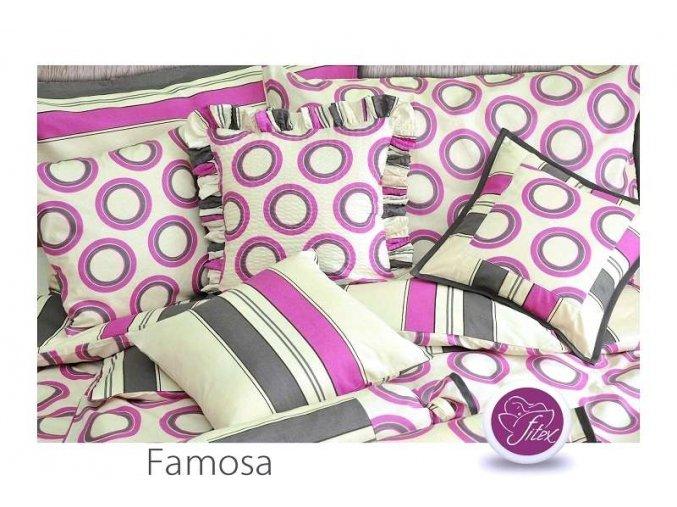 Krepové barevné povlečení Famosa