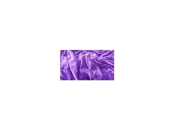 Mikroflanelové prostěradlo fialové