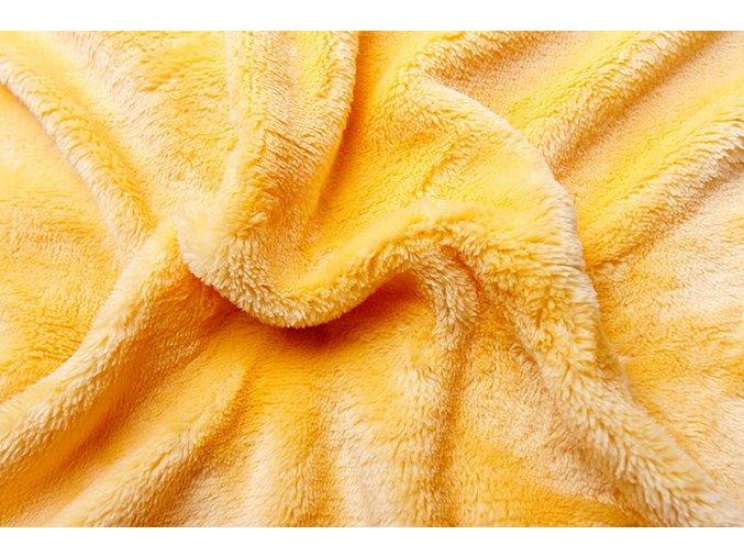 Prostěradlo z mirkoflanelu žluté
