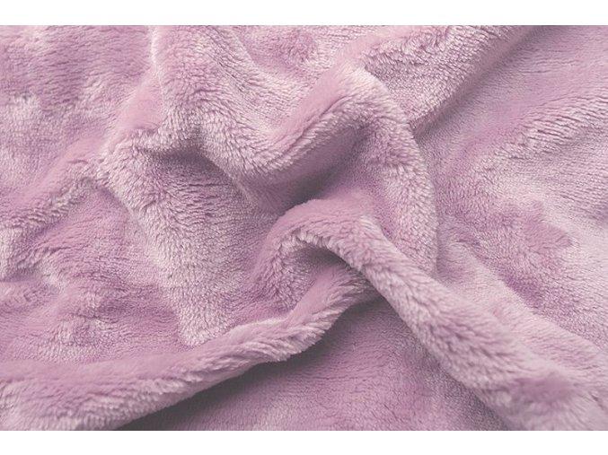 Prostěradlo mikroflanel pudrová růžová (písková) 90x200
