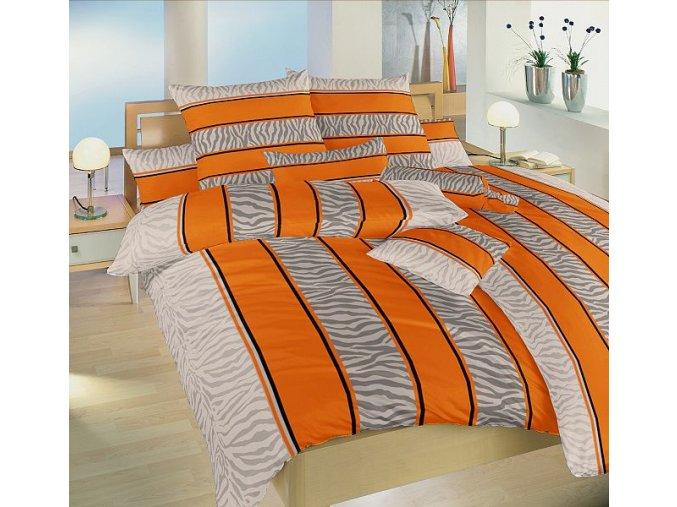Bavlněné povlečení Safari oranžové