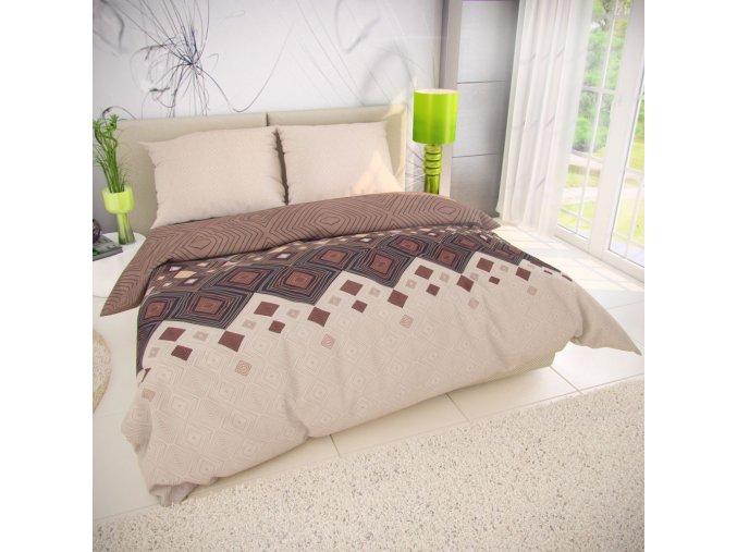 klasicke lozni bavlnene povleceni 140x200 70x90cm coffee hnede 615682 0
