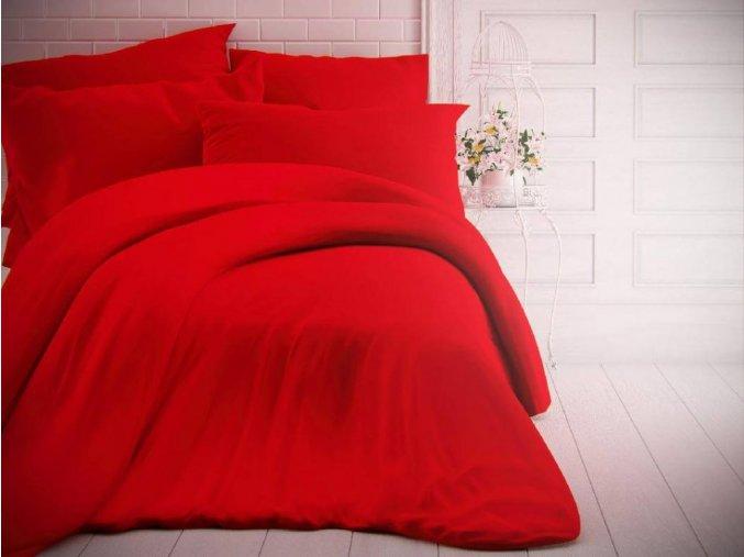 jednobarevne bavlnene povleceni 140x200 70x90cm cervene 0