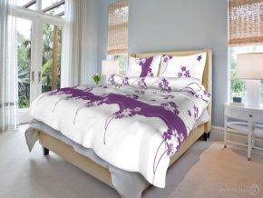 Bavlněné povlečení Květinka fialová