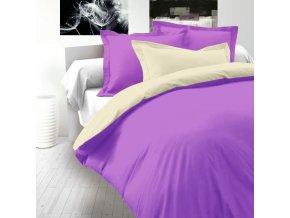 Smetanovo tmavě fialové saténové povlečení