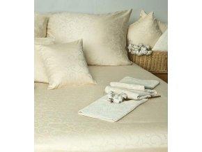 Damaškové povlečení Ornella FNR natural cotton - smetanová
