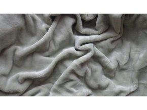 Mikroflanelové prostěradlo šedozelené