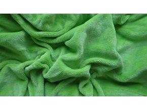 Mikroflanelové prostěradlo zelené