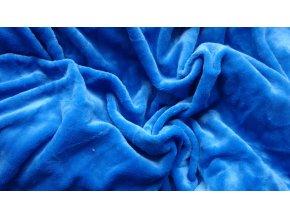 Mikroflanelové prostěradlo modré