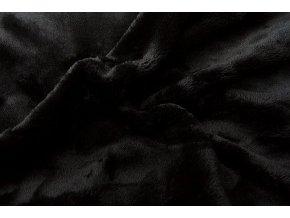 Prostěradlo z mikroflanelu černé 90x200