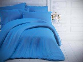 jednobarevne bavlnene povleceni 140x200 70x90cm modre 0