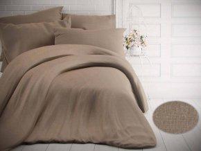 jednobarevne bavlnene povleceni 140x200 70x90cm melir bezovy 0