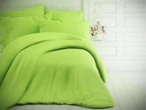 jednobarevne bavlnene povleceni 140x200 70x90cm svetle zelene 0