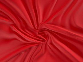 satenove prosteradlo luxury collection 90x200cm cervene 0