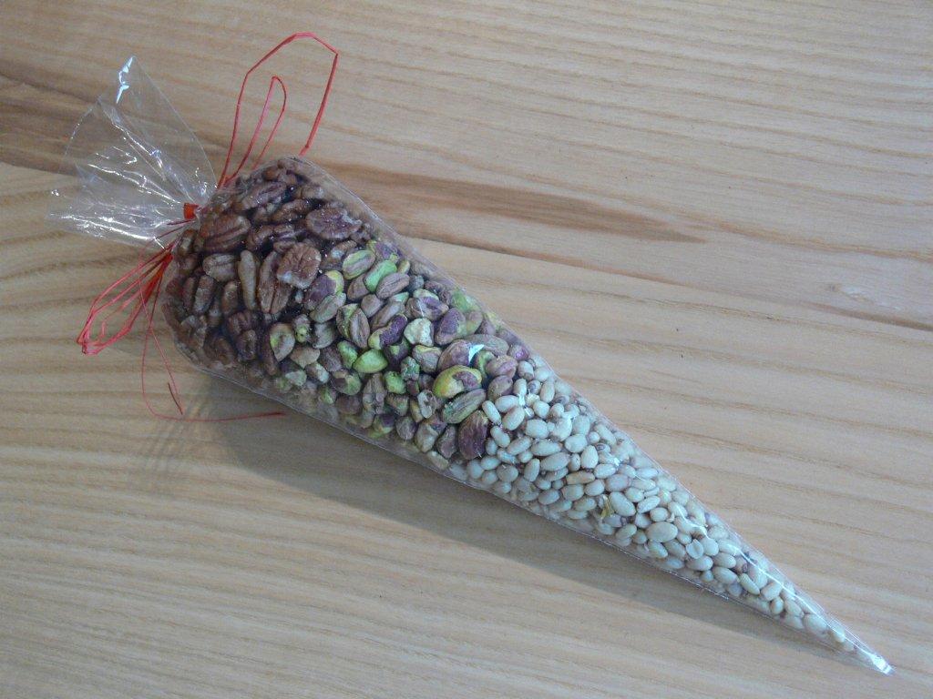 Orechový kornút natural I
