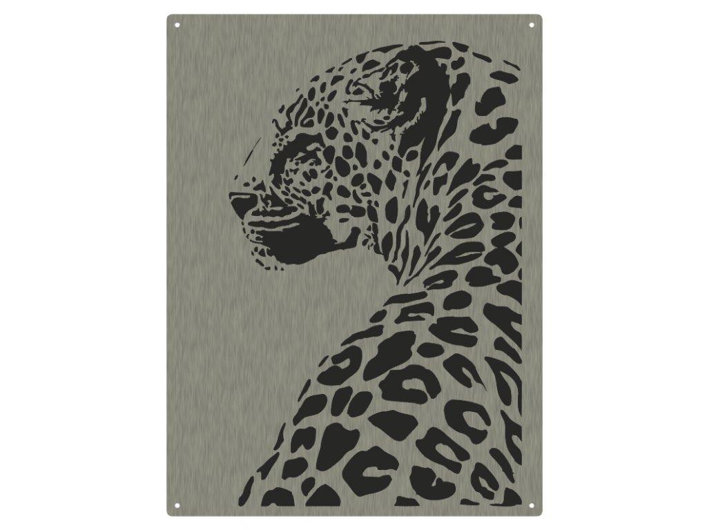Obraz geparda z kovu