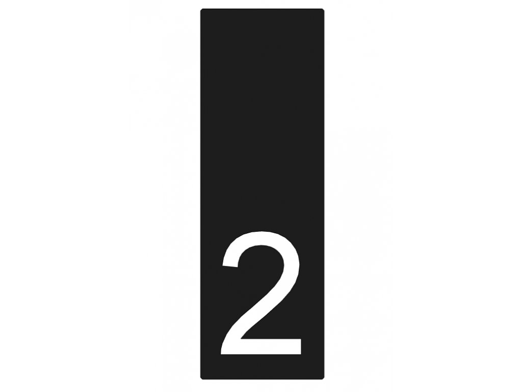 Lakované číslo domu 2