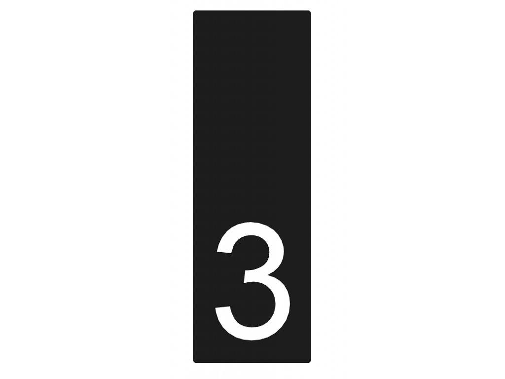 Lakované číslo domu 3