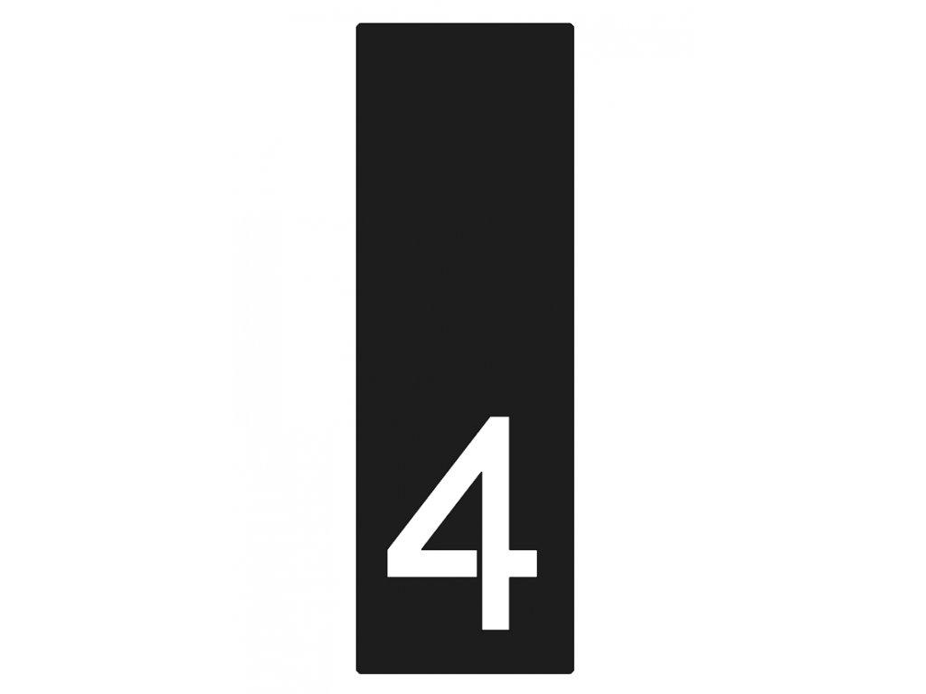 Lakované číslo domu 4