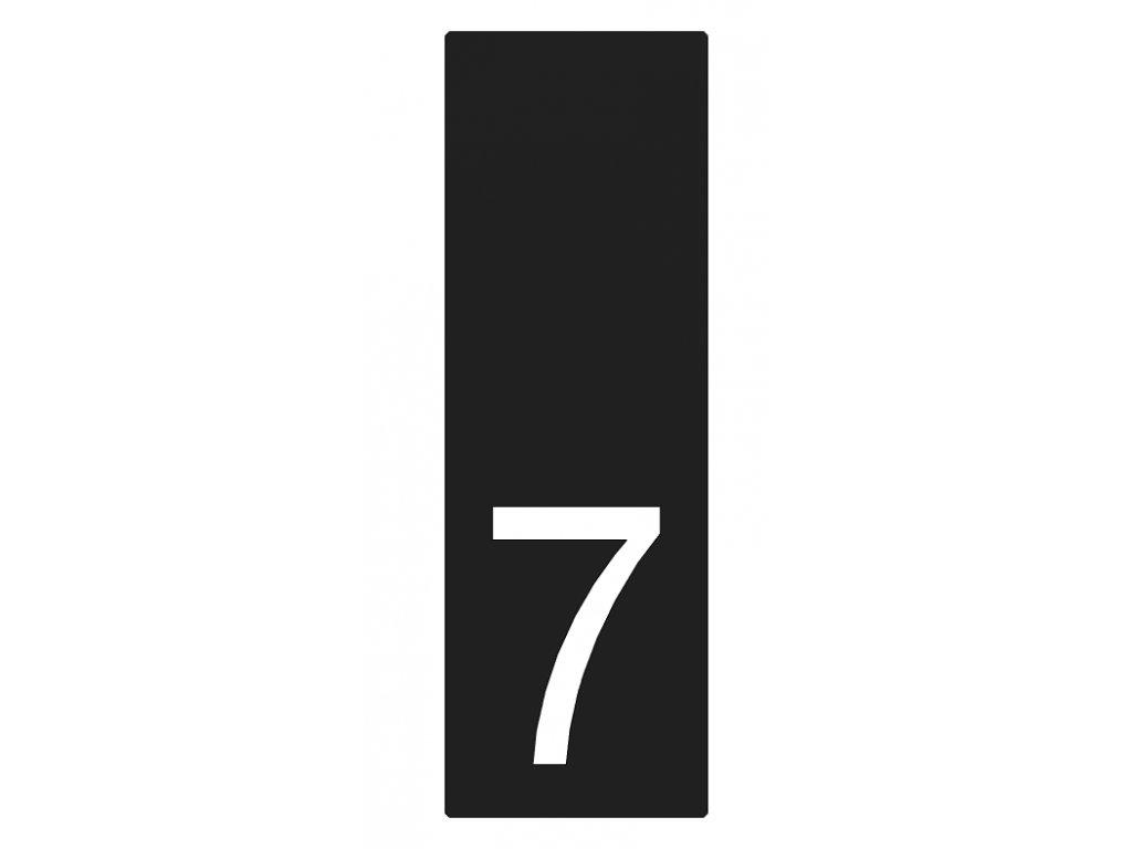 Lakované číslo domu 7