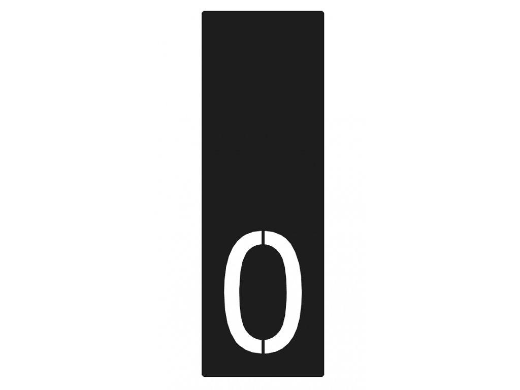 Lakované číslo domu 0