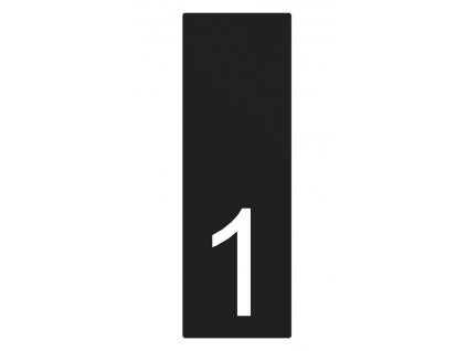Lakované číslo domu 1