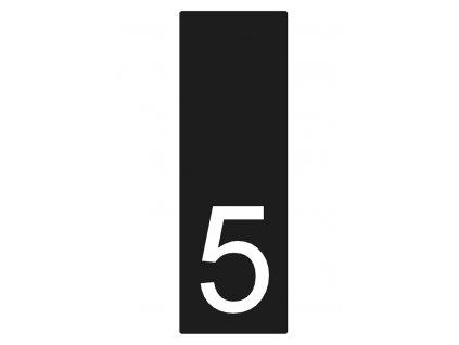 Lakované číslo domu 5