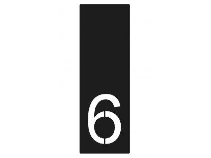 číslo domu 6, antracit