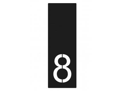 Domovní číslo 8 antracit