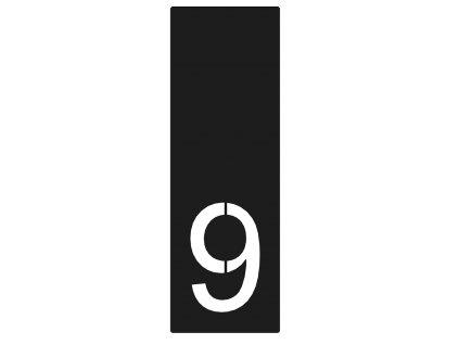 lakované domovní číslo