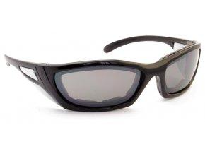Motocyklové brýle BULLET černá