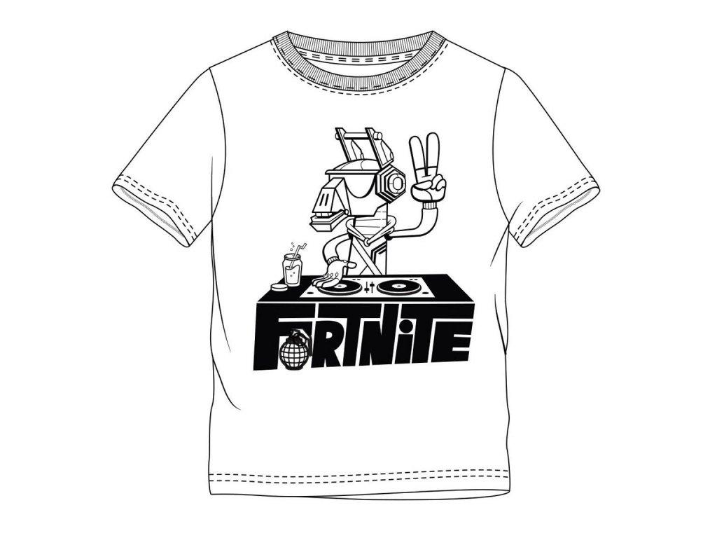 Fortnite tričko DJ Lama bílé dětské