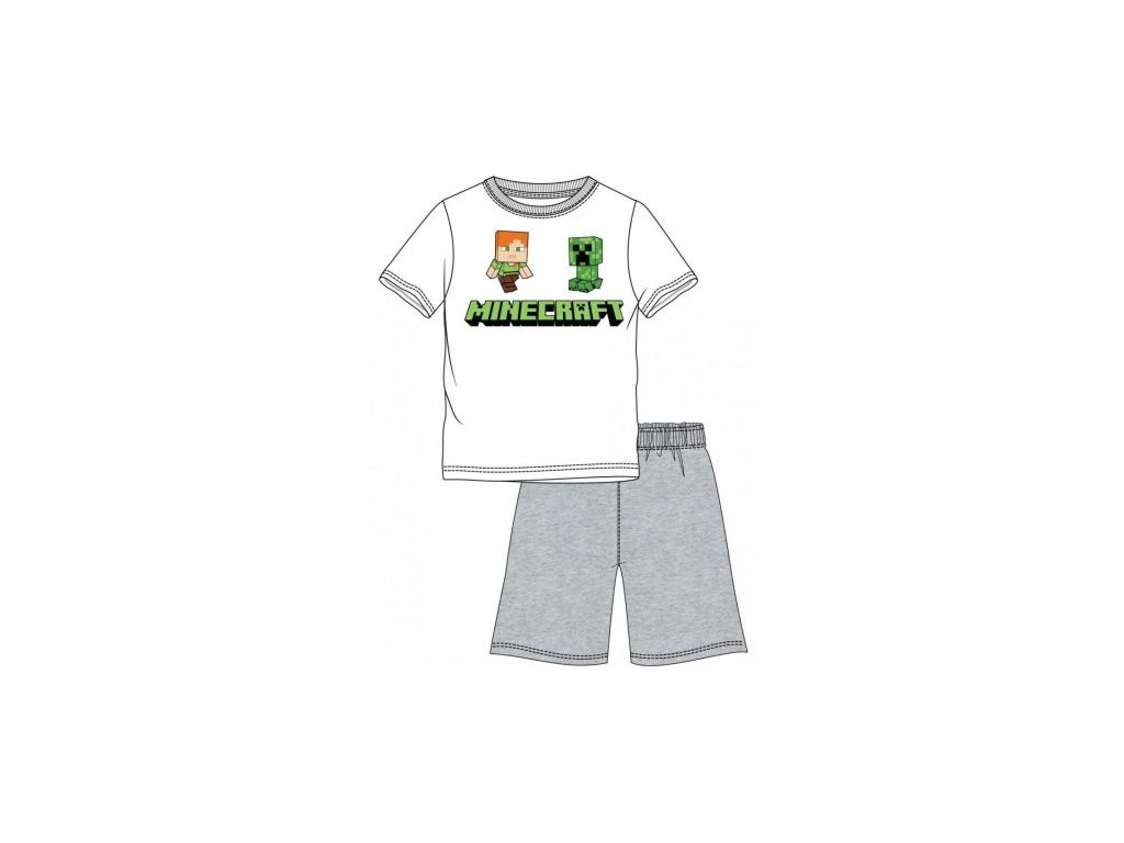 Minecraft pyžamo Creeper a Alex dětské