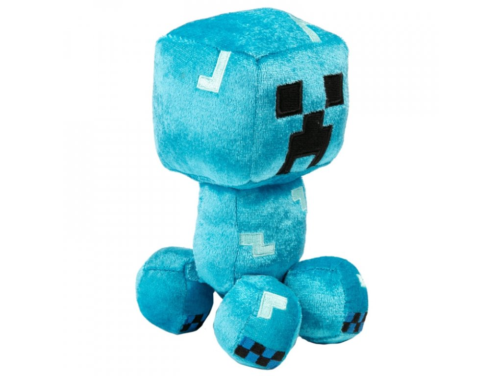 minecraft happy explorer charged creeper plush