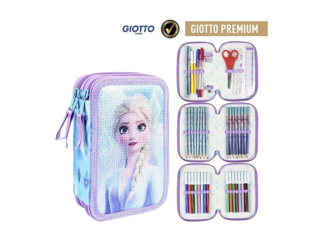 Disney Frozen 2 naplněný třípatrový penál fialový