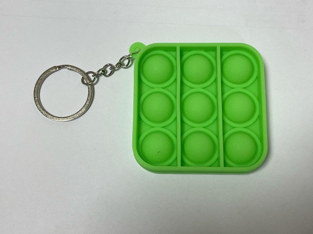 POP IT přívěšek na klíče čtverec (více barev)