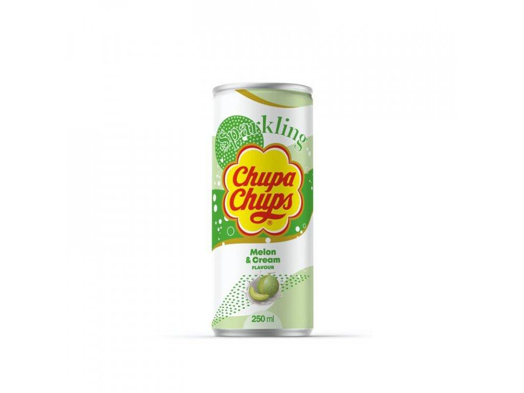 chupa chups 250ml melon cream flavour sparkling soft drink