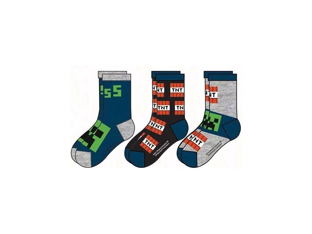 Minecraft ponožky Creeper a TNT dětské
