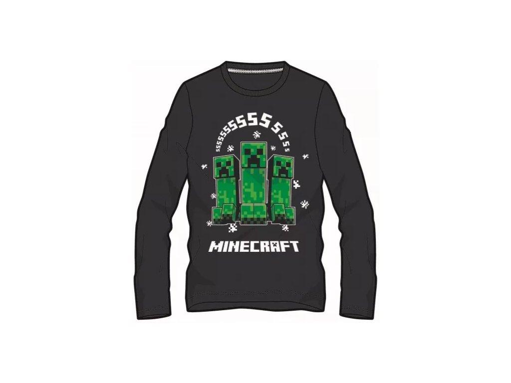 Minecraft tričko Creeper černé dětské
