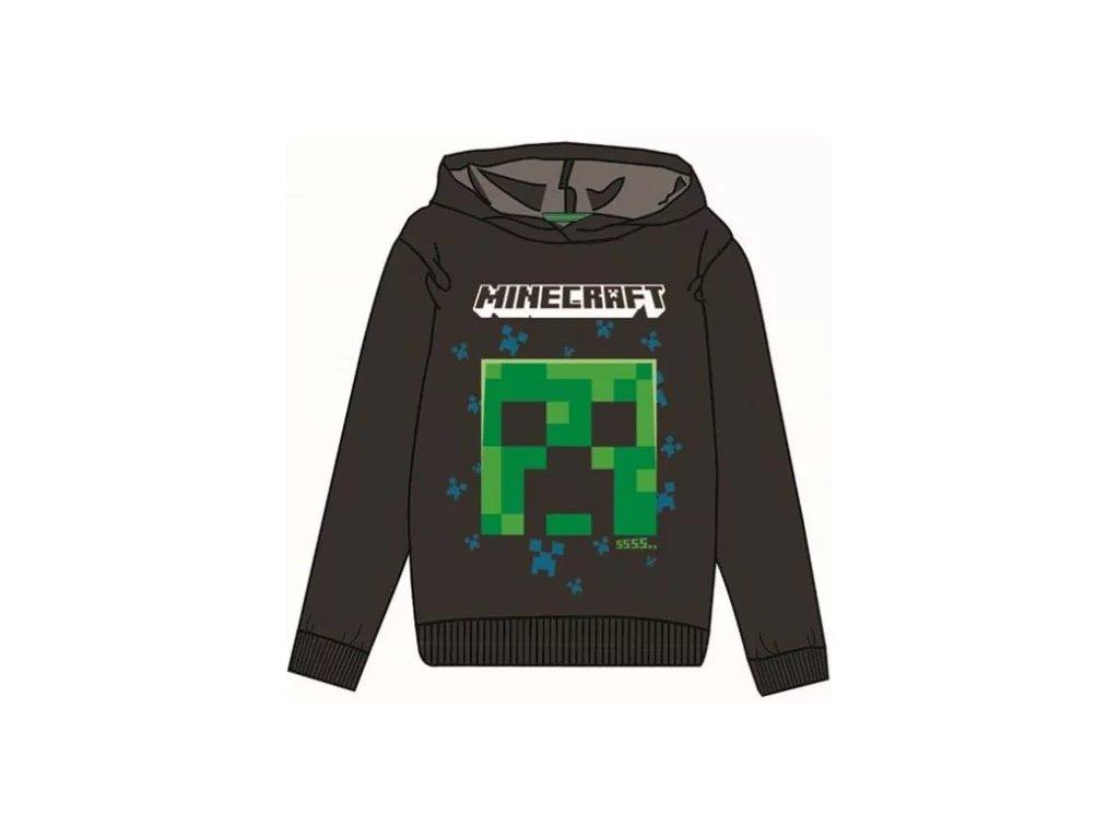 Minecraft mikina Creeper černá dětská