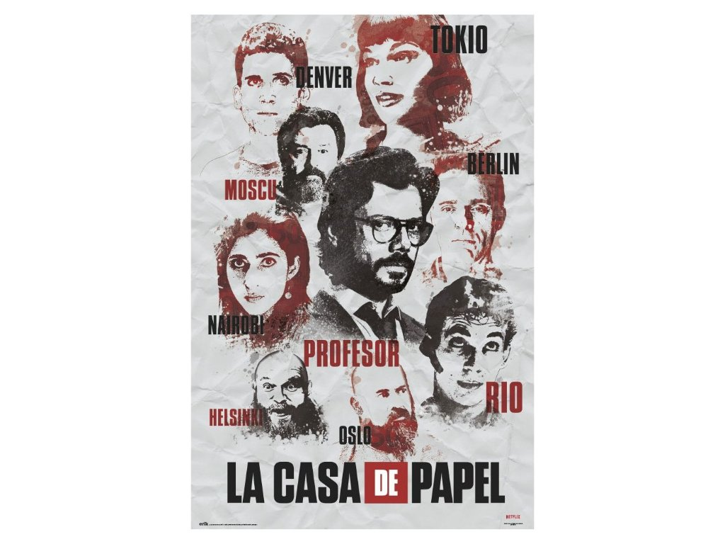 La Casa De Papel plakát Postavy