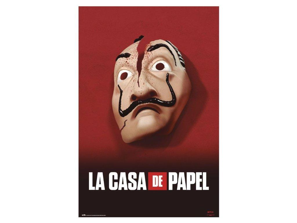 La Casa De Papel plakát Maska