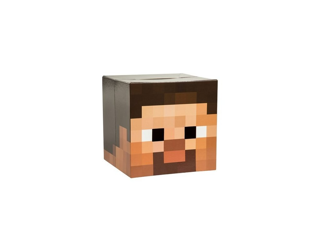 Lepenková hlava Minecraft - Steve
