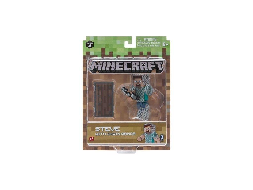Minecraft figurka Steve v řetězové zbrojí