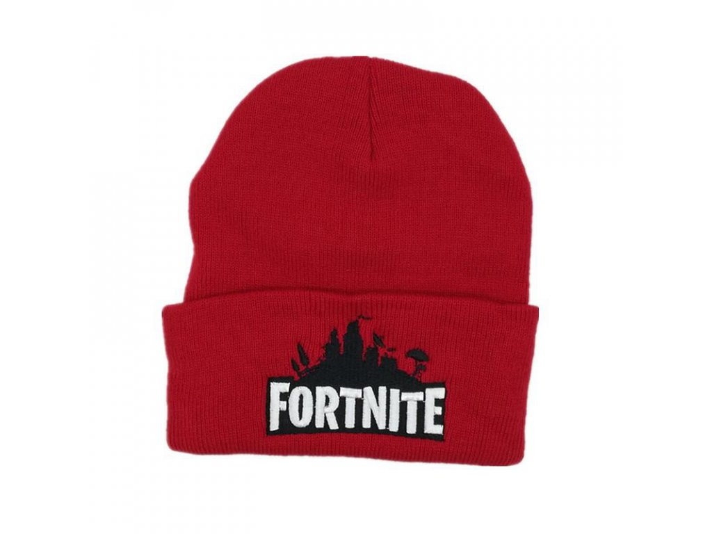 Fortnite zimní čepice červená